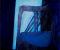 Blue Wicker Chair: 1979 | 32x28 inches | Acrylic on Canvas