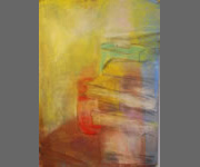 Jar And Pastel Boxes: 2011 | 41x29 Inches | Pastel On Paper